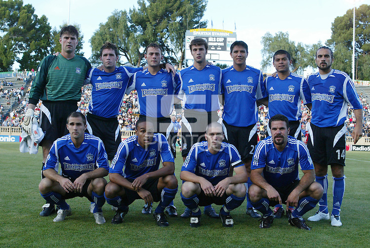 14 May 2005: Starting Lineup of San Jose Earthqquakes before the game against FC Dallas at Spartan Stadium in San Jose, California.   Earthquakes tied FC Dallas, 0-0.   Credit: Michael Pimentel