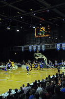A general view of the national basketball league match between Wellington Saints and Mountain Airs at TSB Bank Arena, Wellington, New Zealand on Friday, 6 May 2016. Photo: Dave Lintott / lintottphoto.co.nz
