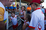 Batonbearer Shane Kelly showing the Baton to children at a community celebration as the Queen's Baton Relay travelled to Ararat. From 25 January to 2 March 2018, the Queen's Baton will visit every other state and territory before Queensland. As the Queen's Baton Relay travels the length and breadth of Australia, it will not just pass through, but spend quality time in each community it visits, calling into hundreds of local schools and community celebrations in every state and territory. The Gold Coast 2018 Commonwealth Games (GC2018) Queen's Baton Relay is the longest and most accessible in history, travelling through the Commonwealth for 388 days and 230,000 kilometres. After spending 100 days being carried by approximately 3,800 batonbearers in Australia, the Queen's Baton journey will finish at the GC2018 Opening Ceremony on the Gold Coast on 4 April 2018.