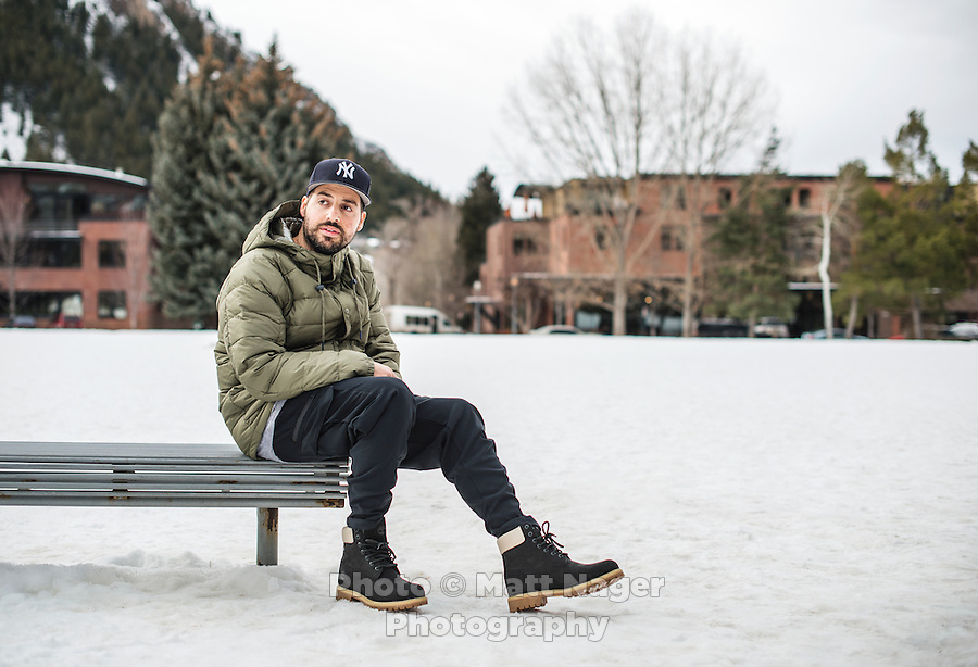 Owner and designer of Kith NYC, Ronnie Fieg during the opening of the new Kith pop-up store in Aspen, Colorado, Thursday, December 15, 2016. <br /> <br /> Photo by Matt Nager