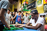 NBA's player and Red Bull athlete Rajon Rondo signs autographs the Hong Kong's Red Bull King of the Rock at the Southorn Indoor Stadium on September 1, 2012 in Hong Kong. Photo by Victor Fraile / The Power of Sport Images