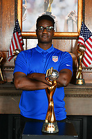 Chicago, IL - Tuesday August 08, 2019: U.S. Soccer WWC Trophy Friends & Family Photo Party at Soccer House in Chicago, IL.