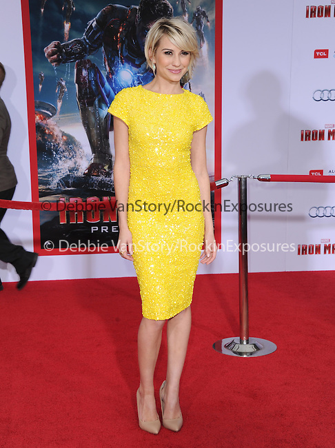 Chelsea Kane at The World Premiere of Marvel's Iron Man 3 held at The El CapitanTheatre in Hollywood, California on April 24,2013                                                                   Copyright 2013 Hollywood Press Agency