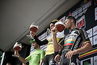 beers&cheers on the podium<br /> <br /> Heistse Pijl 2016