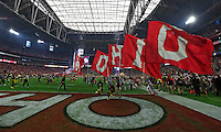 Ohio State Buckeyes take the field for the Fiesta Bowl against Notre Dame Fighting Irish in the University of Phoenix Stadium on January 1, 2016.  (Dispatch photo by Kyle Robertson)