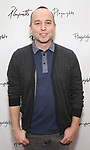 attends the photo call for Playwrights Horizons world premiere production of 'Log Cabin' on May 8, 2018 at Playwrights Horizons rehearsal hall in New York City.