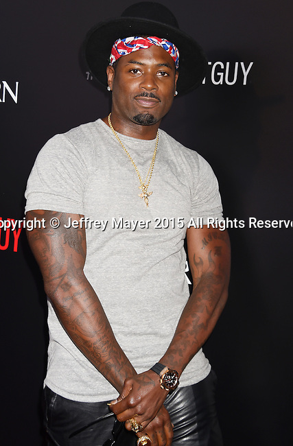 "BEVERLY HILLS, CA - SEPTEMBER 02:  Mickey ""MeMpHiTz"" Wright Jr. arrives at the premiere of Screen Gems' 'The Perfect Guy' at The WGA Theater on September 2, 2015 in Beverly Hills, California."