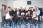 North Kerry College Hair Salon: Colm McEvoy, CEO Kerry ETB cutting the tape at the opening of the new hair salon at the North Kerry College on Tuesday evening last.