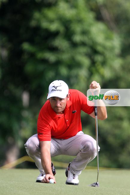 Ignacio Garrido (ESP) on the 13th green during the resumed Round 3 of the 2013 Maybank Malaysian Open, Kuala Lumpur Golf and Country Club, Kuala Lumpur, Malaysia 24/3/13...(Photo Jenny Matthews/www.golffile.ie)