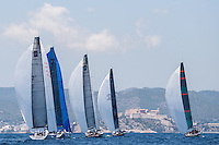 IBIZA, SPAIN - 1 JUL:  52 Super Series fleet in action during preview day of Royal Cup at Marina Ibiza on July 01st 2013 in Ibiza, Spain. Photo by Xaume Olleros / 52 Super Series