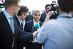 © Joel Goodman - 07973 332324 . 27/09/2016 . Liverpool , UK . London mayor SADIQ KHAN being interviewed by media at the ACC conference centre on the third day of the Labour Party Conference at the ACC in Liverpool . Photo credit : Joel Goodman