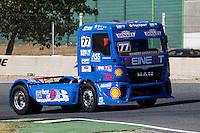 German driver Rene Reinert belonging German team Rene Reinert during the super pole SP1 of the XXX Spain GP Camion of the FIA European Truck Racing Championship 2016 in Madrid. October 01, 2016. (ALTERPHOTOS/Rodrigo Jimenez) /NORTEPHOTO.COM