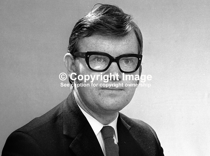 Dr Jack Smith, candidate, Alliance Party of N Ireland, North Belfast, N Ireland Assembly Election, June 1973. 197305000307b<br />