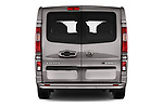 Straight rear view of 2016 Opel Vivaro Business 4 Door Combi Rear View  stock images