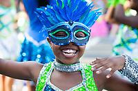 Lil Smiley, Washington Diamonds Drill Team, Seafair Torchlight Parade, Seattle, WA, USA.