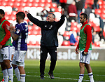 Chris Wilder manager of Sheffield Utd celebrates with the fans during the Championship match at the Stadium of Light, Sunderland. Picture date 9th September 2017. Picture credit should read: Simon Bellis/Sportimage