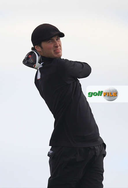 Tom Murray (ENG) on the 14th tee during Round 1 of the Flogas Irish Amateur Open Championship at Royal Dublin on Thursday 5th May 2016.<br /> Picture:  Thos Caffrey / www.golffile.ie