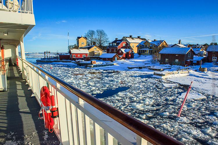 Vinter och snö i Sandhamn i Stockholms skärgård / Winter and snow in Sandhamn Stockholm archipelago