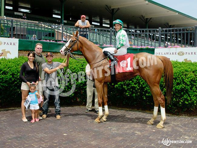 Breaking Up winning at Delaware Park racetrack on 6/9/14