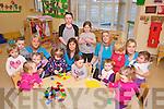 Pictured in Buddies Creche, Ballyduff last Thursday were, 1st row l-r: Ava Kennelly, Niamh Condon, Kelsey O'Brien, Chloe O'Sullivan, Elanna Stack, Katie Bowler..2nd row l-r: Tara Kirby, Jordon Doherty, Elaine Galvin (u5 leader), Eileen Corridon (childcare assis), Anita O'Sullivan, Kaitlynn O'Sullivan, Karina Griffin (childcare co-ordinator), Elliott Browne, Joylene O'Keeffe (childcare assis) and Kasey Ross Dee.