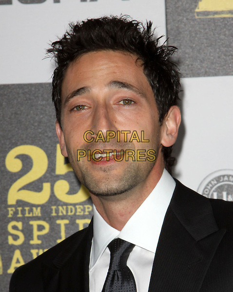ADRIEN BRODY .25th Annual Film Independent Spirit Awards held At The Nokia LA Live, Los Angeles, California, USA,.March 5th, 2010 ..arrivals Indie Spirit portrait headshot black tie stubble facial hair mouth open .CAP/ADM/KB.©Kevan Brooks/Admedia/Capital Pictures