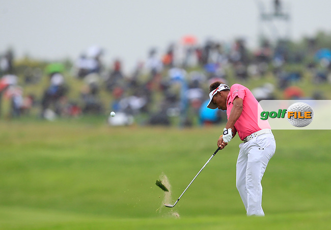 Thongchai Jaidee (THA) on the 9th fairway during Round 4 of the 100th Open de France, played at Le Golf National, Guyancourt, Paris, France. 03/07/2016. <br /> Picture: Thos Caffrey | Golffile<br /> <br /> All photos usage must carry mandatory copyright credit   (&copy; Golffile | Thos Caffrey)