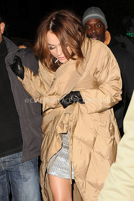 WWW.ACEPIXS.COM . . . . . .October 16, 2009, New York City....Miley Cyrus at the Sex and the City 2 Set. October 16, 2009 in New York City....Please byline: KRISTIN CALLAHAN - ACEPIXS.COM.. . . . . . ..Ace Pictures, Inc: ..tel: (212) 243 8787 or (646) 769 0430..e-mail: info@acepixs.com..web: http://www.acepixs.com .