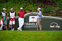 06/24/09 - Photo by John Cheng for Newsport.  PGA Pro Stewart Cink waits his turn at the tee box at the Travelers Championship at the TPC River Highlands in Cromewll Connecticut.