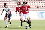 (L to R) <br /> Aya Miyama (Belle), <br /> Mich Goto (reds), <br /> MAY 4, 2014 - Football /Soccer : <br /> Plenus Nadeshiko League 2014 <br /> between Urawa Reds Ladies 1-3 Okayama Yunogo Belle <br /> at Saitama Urawa Komaba Stadium, Saitama, Japan. <br /> (Photo by AFLO SPORT) [1205]