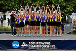 28 MAY 2011: The Williams College I boat celebrates their 1st place in the Eights Grand Final during the 2011 NCAA Division III Women's Rowing Championship hosted by Washington State University held at the Sacramento State Aquatic Center in Gold River, CA. Williams placed first to win the national team title. Brett Wilhelm/NCAA Photos.