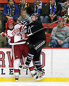 Marshall Everson (Harvard - 21), Matt Maher (Bentley - 2) - The Harvard University Crimson defeated the visiting Bentley University Falcons 5-0 on Saturday, October 27, 2012, at Bright Hockey Center in Boston, Massachusetts.