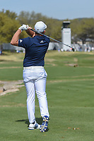 Tyrell Hatton (ENG) watches his tee shot on 7 during round 1 of the World Golf Championships, Dell Match Play, Austin Country Club, Austin, Texas. 3/21/2018.<br /> Picture: Golffile | Ken Murray<br /> <br /> <br /> All photo usage must carry mandatory copyright credit (&copy; Golffile | Ken Murray)