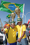 09 September 2007: Brazil fans. The Brazil Men's National Team defeated the United States Men's National Team 4-2 at Soldier Field in Chicago, Illinois in an international friendly labeled the Clash of Champions.