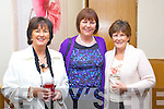 Pictured at Ballyroe Heights Hotel Food Fair in aid of Spa/Fenit Hospice, on Friday night were l-r: Madeline Kelly, Ann Rafferty and Helena O'Halloran.