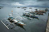 PHILIPPINES, Palawan, Puerto Princesa, fishing boats at the Liberty Fishing Village