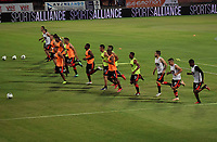 CÚCUTA- COLOMBIA, 26-02-2019:Jugadores del Cúcuta Deportivo ,entrenan antes del encuentro contra el Atlético Huila .Acción de juego entre los equipos Cucuta Deportivo y el Atletico Huila durante partido por la fecha 7 de la Liga Águila I  2019 jugado en el estadio General Santander de la ciudad de Cúcuta . / Cúcuta Deportivo players train before the match against Atlético Huila.Action game between Cucuta Deportivo and Atletico Huila during the match for the date 7 of the Liga Aguila I 2019 played at the General Santander  stadium in Cucuta  city. Photo: VizzorImage / Manuel Hernández  / Contribuidor