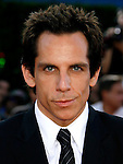 "Actor Ben Stiller arrives at the Los Angeles Premiere Of ""Tropic Thunder"" at the Mann's Village Theater on August 11, 2008 in Los Angeles, California."