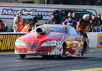 Oct. 5, 2012; Mohnton, PA, USA: NHRA pro stock driver John Gaydosh during qualifying for the Auto Plus Nationals at Maple Grove Raceway. Mandatory Credit: Mark J. Rebilas-