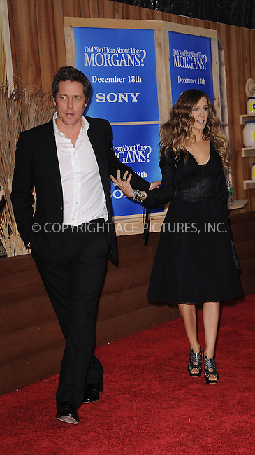 WWW.ACEPIXS.COM . . . . . ....December 14 2009, New York City....Actors Hugh Grant and Sarah Jessica Parker arriving at the Premiere of 'Did you here about the Morgans?' at the Ziegfeld Theatre on December 14 2009 in New York City....Please byline: KRISTIN CALLAHAN - ACEPIXS.COM.. . . . . . ..Ace Pictures, Inc:  ..(212) 243-8787 or (646) 679 0430..e-mail: picturedesk@acepixs.com..web: http://www.acepixs.com