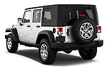 Car pictures of rear three quarter view of 2017 JEEP Wrangler-Unlimited Rubicon 5 Door SUV Angular Rear