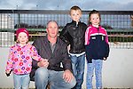 Enjoying th Lispole GAA night at the Dogs at the Kingdom Greyhound Stadium on Friday were Cara, Michael, Tiarnan and Jessie Lynch from Dingle