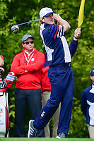 Brandt Snedeker (USA) watches his tee shot on 10 during the practice round at the Ryder Cup, Hazeltine National Golf Club, Chaska, Minnesota, USA.  9/29/2016<br /> Picture: Golffile | Ken Murray<br /> <br /> <br /> All photo usage must carry mandatory copyright credit (&copy; Golffile | Ken Murray)