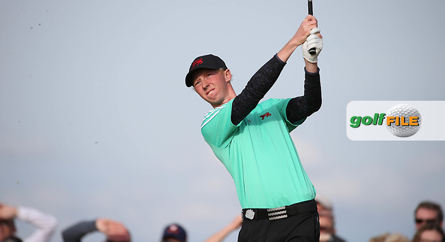 Jimmy Mullen (ENG) playing down the 15th during Sunday afternoon Singles matches of The Walker Cup 2015 played at Royal Lytham and St Anne's, Lytham St Anne's, Lancashire, England. 13/09/2015. Picture: Golffile   David Lloyd<br /> <br /> All photos usage must carry mandatory copyright credit (&copy; Golffile   David Lloyd)