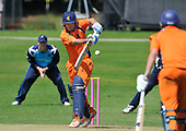 Cricket - 2nd One Day International - Scotland V The Netherlands at Mannofield - Aberdeen - Netherlands batsman (and Captain) Peter Borren turns the ball away to the leg-side while making 71 (not out) of the 180 Dutch total - Picture by Donald MacLeod - 29.6.11 - 07702 319 738 - www.donald-macleod.com