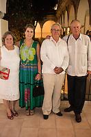 """De izquierda a derecha Maria Paz Donay, Ingeniero Unai Luisa durante la exposicion de Marcela Lobo """"Cuerpos Vibrantes"""" en el museo MACAY de Merida Yucatan el 19 de Julio del 2013.<br /> Foto: Mauricio Palos /NortePhoto"""