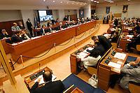 NAPOLI CONSIGLIO REGIONALE DELLA CAMPANIA .NELLA FOTO AULA CONSIGLIO.FOTO CIRO DE LUCA