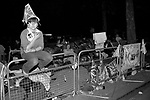 Prince Charles and Lady Diana Spencer Royal Wedding London 1980s  Crowds of well wishers sleep out the night before along The Mall, the parade route so as to get a better view  of the royal procession on the couples wedding day. Wednesday 29 July 1981  UK
