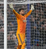 Manchester United's Sergio Romero<br /> <br /> Photographer Rob Newell/CameraSport<br /> <br /> Emirates FA Cup Fifth Round - Chelsea v Manchester United - Monday 18th February - Stamford Bridge - London<br />  <br /> World Copyright © 2019 CameraSport. All rights reserved. 43 Linden Ave. Countesthorpe. Leicester. England. LE8 5PG - Tel: +44 (0) 116 277 4147 - admin@camerasport.com - www.camerasport.com