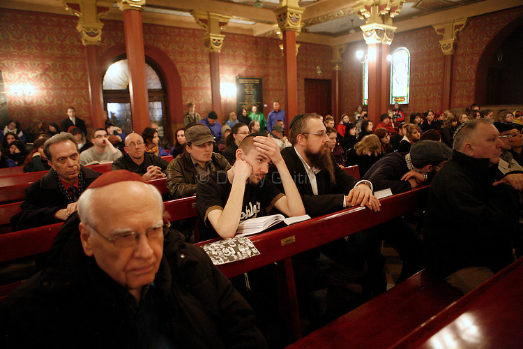 Chief Rabbi of Krakow, Boaz Pash, leads a memorial service for  Polish President Lech Kaczynski and many of the country's top leaders at the Tempel Synagogue in Krakow Sunday. The officials were killed in a plane crash Saturday morning on route to the site of a Soviet massacre of Polish officers during World War II. . April 10, 2010