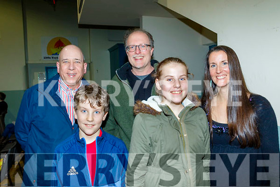 Having a laugh at the variety show at Ardferts community centre last Saturday night performed by the Churchill Drama group, in aid of Fenit Life Boat, L-R Tomás MacThréinfhir, with Gideon, Joel, Clara and Cindy Reed.